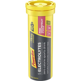 PowerBar 5 Electrolytes Zero Calorie Sports Drink Tabs 10 Pieces Pink Grapefruit with Caffeine